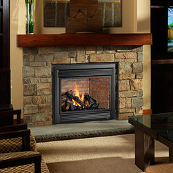 Linear Gas Fireplaces - Ideal for small-to-mid-sized homes or for zone heating in bedrooms, living rooms, and outdoor spaces, the Avalon 864 TRV fireplace combines convective heat and radiant heat.