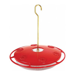 Aspects - Aspects 143 Hummzinger Excel Hummingbird Nectar Feeder, Easy to Clean & Fill - The built-in ant moat blocks crawling insects and the patented Nectar-Guard tips on the feeding ports prevent bees, wasps, and other flying insects from feeding at the ports. These two patented features combine to make the Ultra the most insect-proof feeder on the market. Nectar Guard tips included. 6 feeding ports. 16-ounce capacity. Built-in ant moat. Easy cleaning and filling. Hang or post mount. Raised flowers divert rain. Drip and leak proof. Lifetime guarantee.