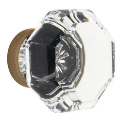 Rejuvenation: Bedroom - Our octagonal Old Town Glass Knob recalls crystal door knobs popular in the early 1900s. Adds a finishing touch to a bedroom door.