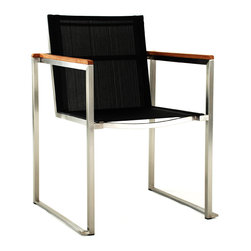 Asymptote Patio chair - This is so cool looking it's almost too cool for your patio. Except it is for your patio. The mesh back and seat looks comfortable and stylish. Just because it's outside doesn't mean it can't be classy.