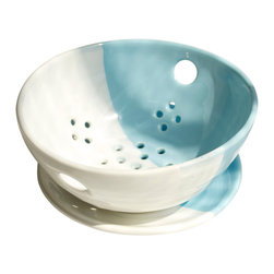 Robert Siegel Studio - Double Dipped Baba Berry Bowl S/S 2014 - Handmade wheel thrown porcelain berry bowl from the S/S 2014 Baba Collection.  Made to order in limited editions and color combinations seasonally.