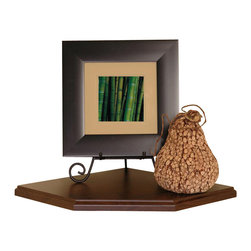 Creative Connectors - 12 in. Walnut Corner Shelf - CARB-Compliant Wood Solid Composite with Melamine Finish. To clean wipe with aclean, damp cloth.. Floating Corner Shelf - no visible connectors. Holds up to 50 lbs - no studs required. All mounting hardware included. Finish: Walnut. 11.8 in. L x 11.8 in. D x 0.75 in. H