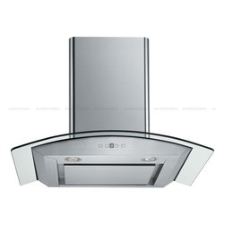 "Cavaliere - Cavaliere SV198D-SP30 30; Wall-Mounted Stainless Steel Range Hood - Mounting version - Wall Mounted 860 CFM centrifugal blower  Three-speed mechanical, soft-touch push button control panel Two 35W halogen lights (Type: GU-10)  Aluminum multi-layers micro-cell dishwasher-friendly grease filter(s) Machine crafted stainless steel (brushed finish) 6"" round duct vent exhaust and back draft damper  Convertible to duct-free operation (requires optional charcoal filter) Telescopic flue accommodates 8ft to 9ft ceilings (optional flue extension available for up to 10ft ceiling)  Tempered glass canopy For residential use only, one-year limited factory warranty"