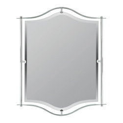 Quoizel - Quoizel Empire Silver Mirrors/Pictures - SKU: DI43224ES - Give your bathroom modern lighting that exudes sleekness and simplicity. The matte silver finish is a classic, and coordinates with many sink fixtures.