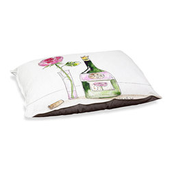 """DiaNoche Designs - Dog Pet Bed Fleece - Rose Wine - DiaNoche Designs works with artists from around the world to bring unique, designer products to decorate all aspects of your home.  Our artistic Pet Beds will be the talk of every guest to visit your home!  BARK! BARK! BARK!  MEOW...  Meow...  Reallly means, """"Hey everybody!  Look at my cool bed!  Our Pet Beds are topped with a snuggly fuzzy coral fleece and a durable indoor our underside material.  Machine Wash upon arrival for maximum softness.  Made in USA."""