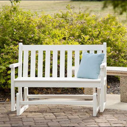 """Fifthroom - 48"""" POLYWOOD Traditional Glider -"""
