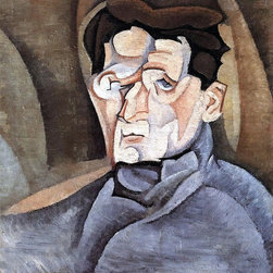 """Art MegaMart - Juan Gris Portrait of Maurice Raynal - 20"""" x 25"""" Premium Canvas Print - 20"""" x 25"""" Juan Gris Portrait of Maurice Raynal premium canvas print reproduced to meet museum quality standards. Our museum quality canvas prints are produced using high-precision print technology for a more accurate reproduction printed on high quality canvas with fade-resistant, archival inks. Our progressive business model allows us to offer works of art to you at the best wholesale pricing, significantly less than art gallery prices, affordable to all. We present a comprehensive collection of exceptional canvas art reproductions by Juan Gris."""