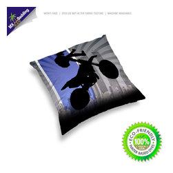 Motocross Throw Pillow -