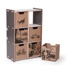 Quark Enterprises - 6 Cubby Shelf, Slate Gray/White - This piece would work well in a playroom or even a shared home office. The cubbies are perfect for organizing books, toys and special keepsakes. And you will love putting it together without any tools!