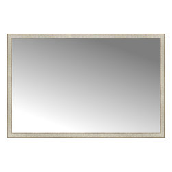 "Posters 2 Prints, LLC - 64"" x 42"" Libretto Antique Silver Custom Framed Mirror - 64"" x 42"" Custom Framed Mirror made by Posters 2 Prints. Standard glass with unrivaled selection of crafted mirror frames.  Protected with category II safety backing to keep glass fragments together should the mirror be accidentally broken.  Safe arrival guaranteed.  Made in the United States of America"