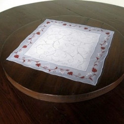 Barn Wood Lazy Susan With custom Hand  Painting - Made by http://www.ecustomfinishes.com