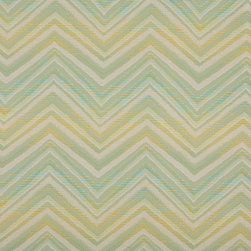 Lime Green Turquoise Beige Chevron Indoor Outdoor Upholstery Fabric By The Yard - P502010 is great for residential and commercial applications, and can be used outdoors and indoors. This fabric will exceed at least 35,000 double rubs (15,000 is considered heavy duty), and is easy to clean and maintain. In addition, this product is stain, water, mildew, bacteria and fade resistant. For superior quality and performance, this fabric is woven and solution dyed.