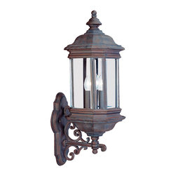 Sea Gull Lighting - Sea Gull Lighting 8839-08 Hill Gate Rust Patina Outdoor Sconce - Three-Light Hill Gate Outdoor Wall Lantern
