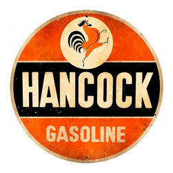 Past Time Signs - Hancock Old School Tin Sign 28 x 28 inches - - Width: 28 Inches