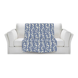 DiaNoche Designs - Fleece Throw Blanket by Julia Grifol - Romantic Tree - Original Artwork printed to an ultra soft fleece Blanket for a unique look and feel of your living room couch or bedroom space.  DiaNoche Designs uses images from artists all over the world to create Illuminated art, Canvas Art, Sheets, Pillows, Duvets, Blankets and many other items that you can print to.  Every purchase supports an artist!
