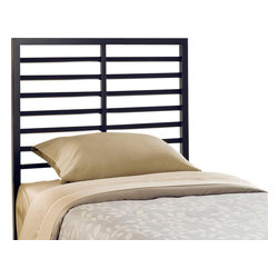 Hillsdale Furniture - Hillsdale Latimore Twin Headboard  in Charcoal Black - Our Latimore Bed offers chic, modern style in an affordable package. Available in charcoal black, glossy red, metallic silver or white. The ladder-back inspired bed or headboard bring a contemporary visual statement to the bedroom. The Latimore is available in all finishes in twin, and  full, queen and king sizes in charcoal black only.