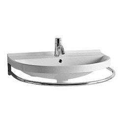 Whitehaus Collection - Whitehaus LUA4 Polished Chrome Rounded Bathroom Sink Front Towel Bar - Polished chrome rounded bathroom sink front towel bar by Whitehaus makes unique and timeless detail for your bathroom. The best of traditional and contemporary design combines for versatile look that complements wide range of bathroom styles. Its practical functionality and the smooth gloss surface finish will keep clean and attractive looking for a long time.