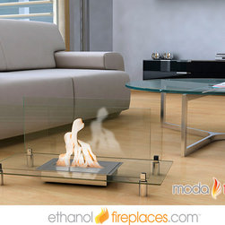 Free Standing Ethanol Fireplaces - Moda Flame Baza Free Standing Floor Indoor Outdoor Ethanol Fireplace