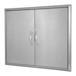 Blaze Outdoor - Blaze 32 Inch Double Access Door - The door's stainless steel construction is durable in an outdoor environment