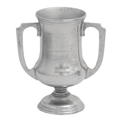 Metal Trophy Vase with Attractive Design & Smooth Curve - Crafted with fine attention to details, the Aluminum Trophy Vase is sure to make a wonderful decor accent. The smooth curves and fluted contours of this elegantly designed vase exemplify finesse and verve. Attractively designed with side arms and a wide fluted base, this trophy vase is a reminiscent of classic English art. This elegantly designed vase is created from high grade aluminum metal that imparts superior durability and ensures lasting, reliable functionality. With its charming design, this vase is sure to lend a dazzling look to your mantle space, console table or nightstands. The distressed finish on the metallic polish of this vase exudes a captivating charm to elevate the design aesthetics.. It comes with following dimensions