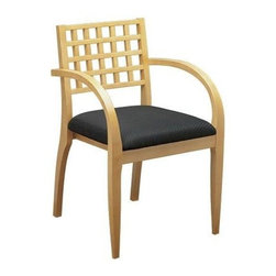Office Star - OSP Furniture Mendocino MEN-982-MPL Wood Guest Leg Chair, Set of 2 - Wood guest seating coordinates with Mendocino case goods. Leg chair with criss-cross back and upholstered seat. High gloss maple. Ships 2 per carton, frame fully assembled, seat cushion unmounted.