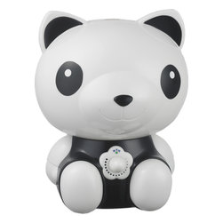 SPT - Cute Panda Ultrasonic Humidifier - Help your little ones breathe easier by adding moisture to the air with our adorable Panda humidifier. Provides year-round relief from the drying effects of AC and Heater. Features super-quiet operation, 1.8 liters tank capacity and auto shut-off protection (with no audible alarm) - the perfect addition to any child's room.