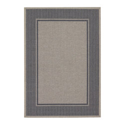 "Couristan - Tides Astoria Rug 0058/4004 - 5'3"" x 7'6"" - Tastefully simple these durable, weather-defying area rugs are suitable for indoor and outdoor use. You'll love the way their warm, neutral color-schemes coordinate with today's most popular outdoor furniture pieces. Perfect for patio decks, kitchens and entryways the simplicity and practicality of each design offered in Tides will provide your setting of choice with an universal appeal."
