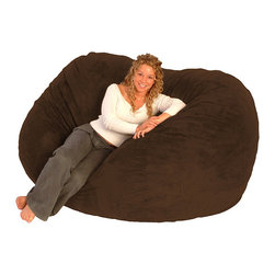 Comfort Research - FufSack Chocolate Brown Microfiber Bean Bag Chair - Comfortable and durable,this FufSack chair has a microfiber cover and is filled with super soft and long-lasting  foam. This chair is perfect for any room including home theater rooms,bedrooms,dorms,family and game rooms.