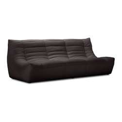 ZUO - ZUO Carnival Modern Leatherette Sofa in Espresso - Like a big bear hug, cuddling up on this leatherette sofa is both comforting and comfortable. The padded and tufted sectional comes in espresso, black and white, so grab a coffee concoction and hunker down for some binge viewing.