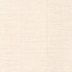 Breeze Salmon Woven Texture Wallpaper Bolt - A soft weave for walls this texture wallpaper emulates a delicate knit in a pretty pearl blush hue.
