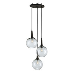 Currey and Company - Beckett Trio Pendant - A cluster of three works as one on this stylishly understated pendant. Perfect for smaller entryways, breakfast nooks and kitchens, this versatile fixture brings a mood-enhancing glow to your interior.