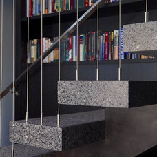 Eclectic Staircase by Searl Lamaster Howe Architects