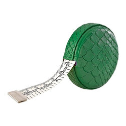 Kelly Green Tape Measure - Embossed Python - Measurements are a breeze with this handy tape measure.