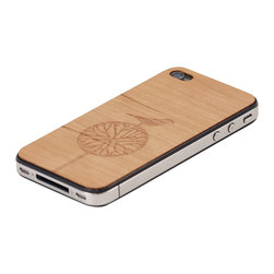 Lazerwood - Treebird iPhone Cover, Walnut - Low profile, real wood veneer cover for iPhone. Peel-and-stick backing makes the cover easy to apply and remove without damage to the phone. Designed and made in Seattle, WA.