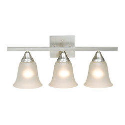 Design House - Design House 504142 Village 3 Light Down Lighting Bathroom Vanity Fixture with O - Design House The Village 3 Light Bath LightThe Village Collection's Easy Lines Fit Any Space And Budget.