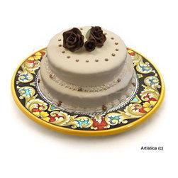 Artistica - Hand Made in Italy - Deruta Vario: Cake/Cheese Platter (Large) - Deruta Vario
