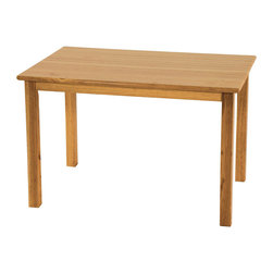 "Ecr4kids - Ecr4Kids Children Classroom 24""X36"" Rectangular Hardwood Table W/22"" Legs - A classic edition to any classroom, playroom, library, or common area, this durable, solid hardwood table is attractive and built to last. Tabletops are beautiful, easy-to-clean, and have smooth, rounded edges for style and safety. Features a 3/4 thick hardwood tabletop and solid hardwood legs."