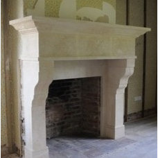 Mediterranean Indoor Fireplaces by Southern Stone Crafters LLC