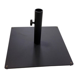 Tropishade - TropiShade Steel Plate Square Base - Tropishade Black Steel umbrella base is all you need to keep your outdoor furniture from blowing away. It weighs 36 pounds. This  base fits Trposhade umbrellas.  It's weather resistant and features an attractive black design.