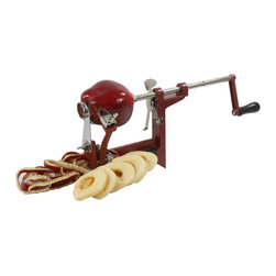 Buffalo Tools - AmeriHome Hand Crank Apple Peeler - Enjoy more of the autumn apple harvest with the AmeriHome Hand Crank Apple Peeler. Take the family and kids out apple picking and make fresh apple pies, apple sauce and cobblers when you get home. The polished steel Apple Peeler makes it quick and easy to core, peel and slice an entire bushel of fruit.