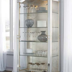 American Drew 908-855 Jessica Mcclintock Couture Curio Cabinet - 908-855 Curio Cabinet from Jessica McClintock Couture Collection by American DrewW39 D22 H88Wt. 122 Cubes 57.92 DOORS WITH 4 ADJUSTABLE GLASS SHELVES2 CAN TOUCH LIGHT SYSTEM