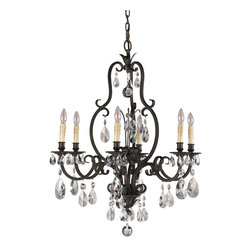Murray Feiss - Murray Feiss Salon Maison Traditional Chandelier X-STA6/8222F - The Murray Feiss Salon Maison Traditional chandelier features a sophisticated aged tortoise shell finished frame with opulent crystal drops. The classical chandelier displays an even illumination with a soft glow for a comfortable yet stylish ambiance. Make this remarkable fixture a d&#233:cor accent to provide a new shine to the room.