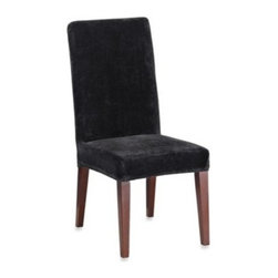 Sure Fit - Sure Fit Stretch Plush Short Dining Room Chair Cover - Instantly update the look of your dining room with these luxurious chair covers. The fabric's thick, ultra-soft pile looks and feels rich while its stretch gives a custom-like fit.
