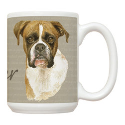 515-Boxer Mug - 15 oz. Ceramic Mug. Dishwasher and microwave safe It has a large handle that's easy to hold.  Makes a great gift!
