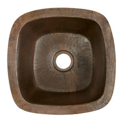Native Trails - Rincon Copper Bar Sink, Antique - A beloved Native Trails original, Rincon proves it is hip to be square. Great as a smaller bar sink, this simple, elegant, hand hammered copper sink is versatile in design and an incredible addition to any space. Rincon copper bar & prep sink is artisan crafted; forged of high-quality recycled copper. Want to benefit from the bacteria-fighting power of copper? Studies prove that copper itself kills harmful bacteria.