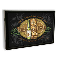 Past Time Signs - Tiki Bar Light Box Sign 19 x 13 Inches - - Width: 19 Inches