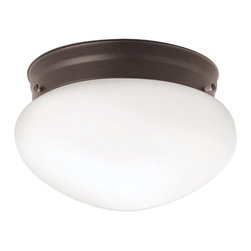 BUILDER - BUILDER Ceiling Space Transitional Flush Mount Ceiling Light (Pack of 12) X-ZO60 - From the Ceiling Space Collection, the fluid shape of the crisp white glass shade is given a traditional appearance thanks to the warm earthy tones of the Olde Bronze finish. Comes in a pack of 12.