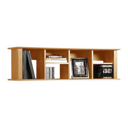 Prepac - Prepac Sonoma Maple Wall Mount Bookcase - Prepac - Hutch - MHD1348 - With its unique design this wall hutch can be mounted above the Sonoma Computer Desk (sold separately) to store books papers and computer disks. It can also be used on its own as a floating bookcase for collectibles and accessories.