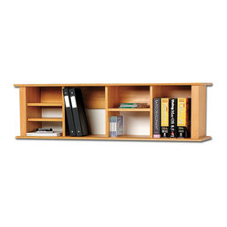 Prepac Sonoma Maple Wall Hanging Desk Hutch