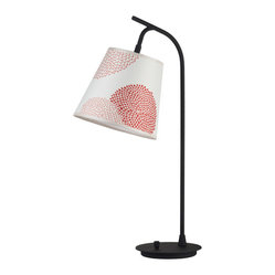 Walker Table Lamp, Red-Orange Mumm